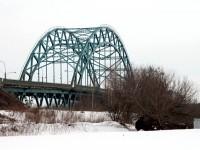 Вид на мост от деревни Заозерье