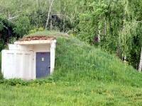 Сооружение Газпромсвязь на просеке у деревни Прудки