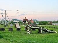Собачья площадка на въезде в Нижнее Мячково