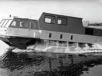 Испытания шнекохода ЗИЛ-4904 на воде
