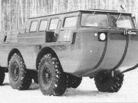 Обкатка амфибии ЗИЛ - 49042 на базе  Чулково. Зима 1972-1973