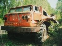 Остатки ЗИЛ Э167 на испытательной базе СКБ ЗИЛ Чулково  (2003 год, из архива Яна Якушкина)