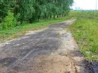 Кусок старой трассы рязанского шоссе, август 2013 - здесь будет новый въезд в поселок