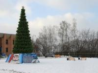 Новогодняя елка в поселке Тельмана - декабрь 2013