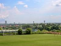 Вид со стадиона на окрестности