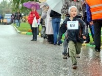 Юный спортсмен на финише