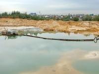 Намыв песка в обводненном карьере