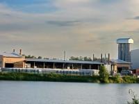 Вид с карьера на завод Русеан в промзоне РГОК