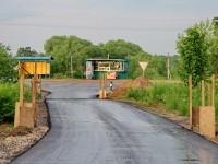 Выезд из деревни Прудки к остановке