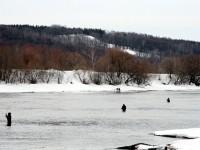 Рыбалка в водах Москва-реки - март 2013