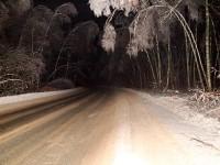 Володарское шоссе после отключения электричества зимой 2010