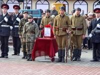 Почетный караул на Центральной площади Лыткарино