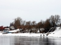 Берег Москва-реки в деревне Заозерье
