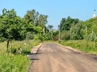 Заасфальтированная дорога в Зеленой Слободе